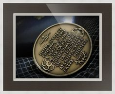 "Patek Philippe Geneve Commemorative Medal Coin // Paper: enhanced matte; Glazing: acrylic; Moulding: white, wide square white; Top Mat: black/gray, prato grotto; Middle Mat: white/cream, pure white; Bottom Mat: black/gray, granite // Price starts at $126 (Petite: 19.5"" x 21.5""). // Customize at http://www.imagekind.com/Patek-Philippe-Geneve-PPG_art?IMID=02d2d878-c1ec-4135-b5f1-3c17e7a5ee8b"
