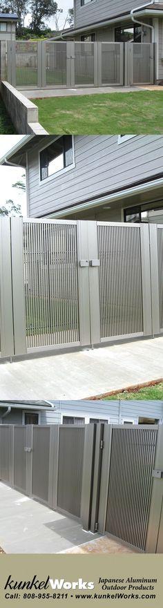 High Quality Japanese Anodized Aluminum Gates, Fences, Carports and Patio Covers Home Gate Design, House Main Gates Design, House Fence Design, Modern Fence Design, Steel Gate Design, Grill Door Design, Front Gate Design, Duplex House Design, Main Door Design