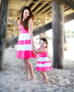 19. Cute #Sundress - 23 Stunning #Mother Daughter #Outfits You Can Wear Together ... → #Fashion #Dresses