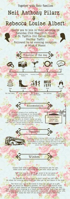 Typographic 'Love Story' Wedding Invites & RSVP on Behance