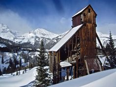 One of our most photogenic old mining headframes - the Yankee Girl - this time in winter. Thanks to our friend Mark Johnson of Box Canyon Blog for the great photography.