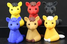 Set of 6 Series Two Horse Erasers
