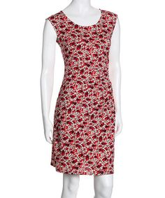 ARIANNE-Red Floral Gisele Dress