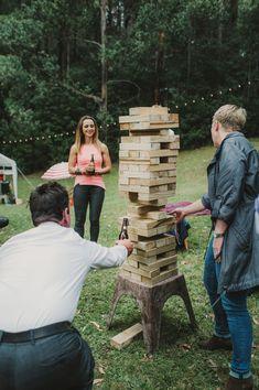 Wedding inspiration for Australian & New Zealand couples Jenga Wedding, Lawn Games Wedding, Diy Wedding, Wedding Ideas, Outdoor Jenga, Giant Lawn Games, Jenga Game, Giant Jenga, Wedding Entertainment