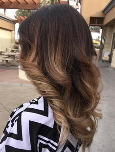 Ash Brown Ombre Highlights