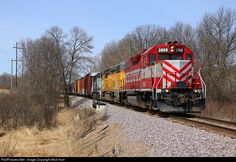 RailPictures.Net Photo: WSOR 3809 Wisconsin & Southern EMD GP38-2 at Hartford, Wisconsin by Nick Hart