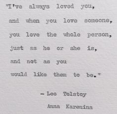 Tolstoy Anna Karenina Typewriter Quote; weddings, love, bookish by BookishGifts on Etsy