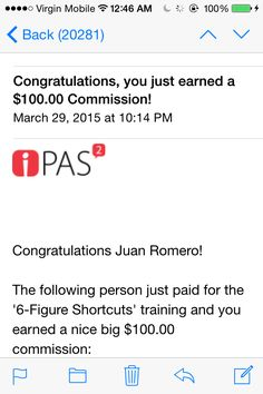 I love gettting these emails! Ipas 2 rocks and its supercharged now!   Www.ipas2homefranchise.com