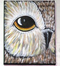 Owl Eye Acrylic Painting Nature Wildlife Wall Art Bird of Owl Paintings, Wildlife Paintings, Nature Paintings, Acrylic Painting Canvas, Owl Wall Art, Acrylic Wall Art, Owl Art, Eye Painting, Rock Painting