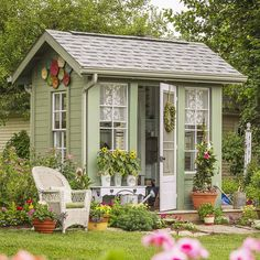 30 Garden Shed Ideas to Copy - This cottage potting shed takes design cues from. 30 Garden Shed Ideas to Copy - This cottage potting shed takes design cues from the main house, using the same earthy