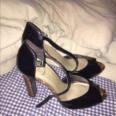 Jessica Simpson heels worn once Peep toe Jessica Simpson Shoes Heels