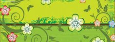 Cute Flowers and Butteflies Facebook Cover