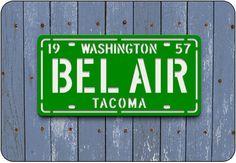 BEL AIR License Plate Sign