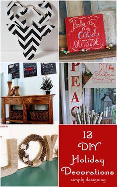 13 DIY Holiday Decorations | #holiday #diy #christmas