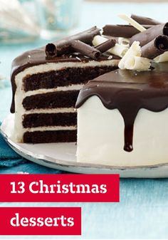 13 Christmas Desserts – Make this Christmas an especially scrumptious one with our family-pleasing collection of classic Christmas dessert recipes. Check out our no-bake desserts if the oven's busy or for an impressive chocolate cake recipe to serve at the table. We also have yummy ideas for homemade edible gifts!
