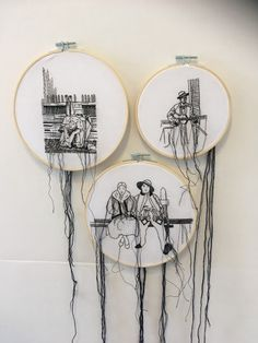 Black and White realistic embroidery by Sonia Braska