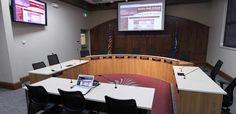 School Board Meeting Room for Anoka-Hennepin School District Alpha Video, School District, Conference Room, Audio, Board, Table, Furniture, Home Decor, Decoration Home