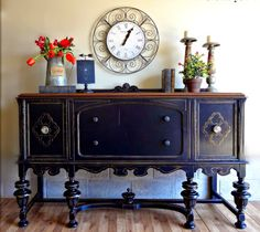 This gorgeous antique buffet belonged to the same set of the Depression Era hutch I just refinished. Two beautiful pieces of furniture. Refurbished Furniture, Paint Furniture, Repurposed Furniture, Dining Room Furniture, Furniture Projects, Furniture Making, Furniture Makeover, Vintage Furniture, Home Furniture