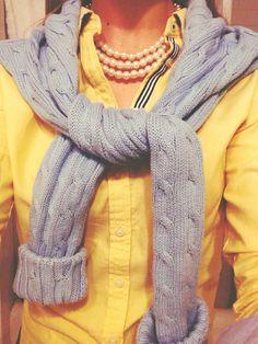 #preppy style - #grey & #yellow
