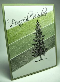 stamping up north with laurie: Masking tape technique, Stampin Up lovely as a tree