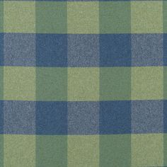 Blue Green Plaid Wool Upholstery Fabric Modern by PopDecorFabrics