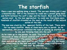 gallery for starfish poem making a difference