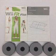Nintendo Wii Fit Balance Board Riser Foot Feet Extender RVL-025 Fit Plus Manual  | eBay