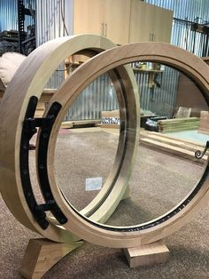 This beautiful round solid oak window measures. diameter with 1 opening sash. and a thick clear double glazed unit. The sash sections measure x Hobbit Door, The Hobbit, Casa Dos Hobbits, Underground Homes, Dome House, Windows And Doors, Round Windows, Earth Homes, House Doors