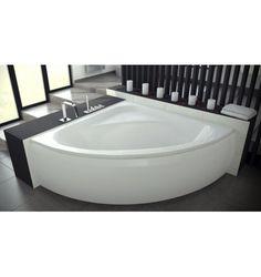 Baignoire d 39 angle cm blanc nerea leroy for Baignoire d angle leroy merlin