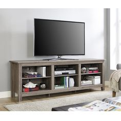 "70"" Essentials TV Stand - Driftwood"