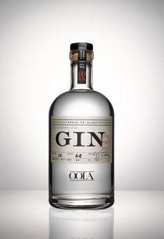 Oola Gin package design  beautiful! my favorite spirit! GIN! I <3 good typography!