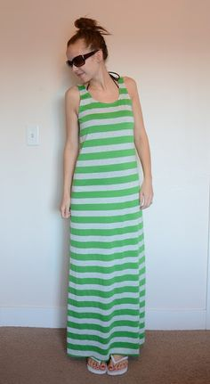 Merricks Art: Swimsuit Cover-up Maxi Dress (Tutorial); I may widen the arm holes just a bit, maybe change the fabric and have this as a nightgown