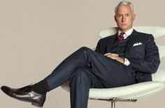 Esquire || How to own a business meal, the Roger Sterling way. It's actually pretty accurate.