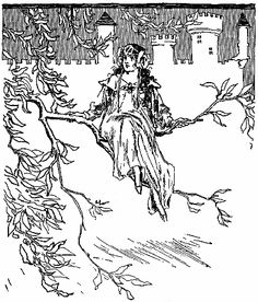 """From """"The Lost Princess,"""" illustration by John R. Neill."""