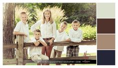 Family Portraits - Family Picture Colors - Style and Outfit Selections - Color Palettes - NP Design & Photography - www.npdesignphotography