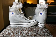 Because every girl needs some wedged Converse as their second wedding shoes!  The lovely ladies getting ready for the wedding at the Palmer House Chicago  XO AZUREÉ