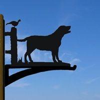 HANGING BASKET BRACKET in Labrador Design   The Profiles Range   Animal Weathervanes   Dog Wind Vane   Labrador Lovers   Labrador Products   Dog Lovers   Available at Cuckooland