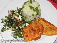 Hekk filé kecskesajtos rukkola salátával Lidl, Empanadas, Pho, Curry, Meat, Chicken, Bulgur, Curries, Empanada