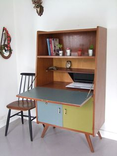 Secrétaire vintage www.pataluna.com Office Desk, Corner Desk, Living Room, Bedroom, Kitchen, Design, Diy, Furniture, Images