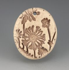 Allium Pendant clay ceramic natural organic by GrowingEdgeArts, $10.95