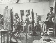 Art class at Oregon 1943.  From the 1944 Oregana (University of Oregon yearbook).  www.CampusAttic.com