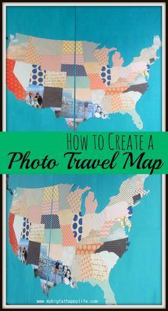 How to Create a Travel Photo Map #uniquesouvenir #travel | mybigfathappylife.com