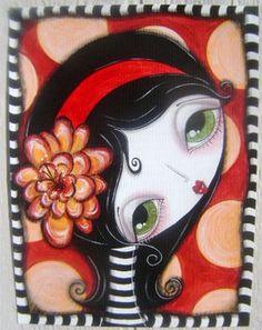 orange flower girl by Megan K. Suarez,