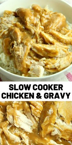 Slow Cooker Chicken and Gravy is what comfort food is all about in our house and it is totally ahhh-mazing! Easy and delicious always wins in our home. food recipes southern Slow Cooker Chicken and Gravy is what comfort food is all about Slow Cooker Huhn, Slow Cooker Recipes, Cooking Recipes, Cooking Games, Chicken Gravy, Crock Pot Chicken, Chicken Gnocchi, Gnocchi Soup, Chicken In The Crockpot