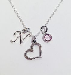 Crab necklace initial necklace hermit crab initial charm necklace easter gifts for teens easter gift easter gift ideas easter basket gift daughter gift heart necklace personalized silver necklace negle Gallery