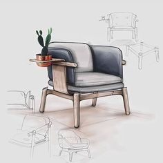 Small accent chairs for living room tommybahamabeachchair fo Interior Design Sketches, Industrial Design Sketch, Sketch Design, Design Living Room, Accent Chairs For Living Room, Dining Room, Chair Design, Furniture Design, Furniture Sketches