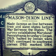 Just south of the Mason-Dixon Line. Photo Cred: @x1984xs