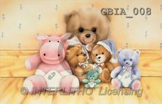 Keith, BABIES, paintings, bears, hippo(GBIA008,#B#)
