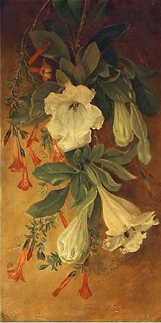 ❀ Blooming Brushwork ❀ - garden and still life flower paintings - Summer Flowers, 19th century, English
