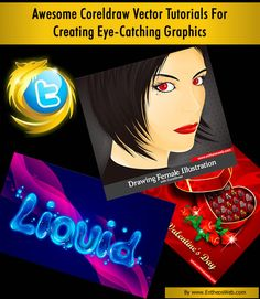 Awesome Coreldraw Vector Tutorials For Creating Eye-Catching Graphics Corel Draw Tutorial, Facebook Timeline Covers, Product Ideas, Text Effects, Photo Effects, Coreldraw, Vector Graphics, Ring Designs, Vectors